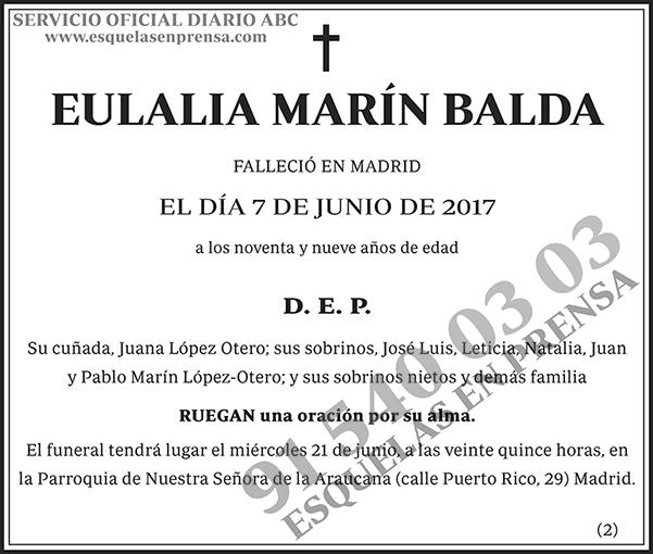 Euralia Marín Balda
